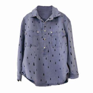 Bobo Choses Denim Shirt with Rain Print
