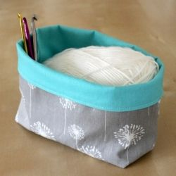 Sewn storage basket that has a unlimited number of uses!