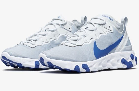 d7dc0241db53 Nike React Element 55 Pure Platinum Racer Blue Coming Soon