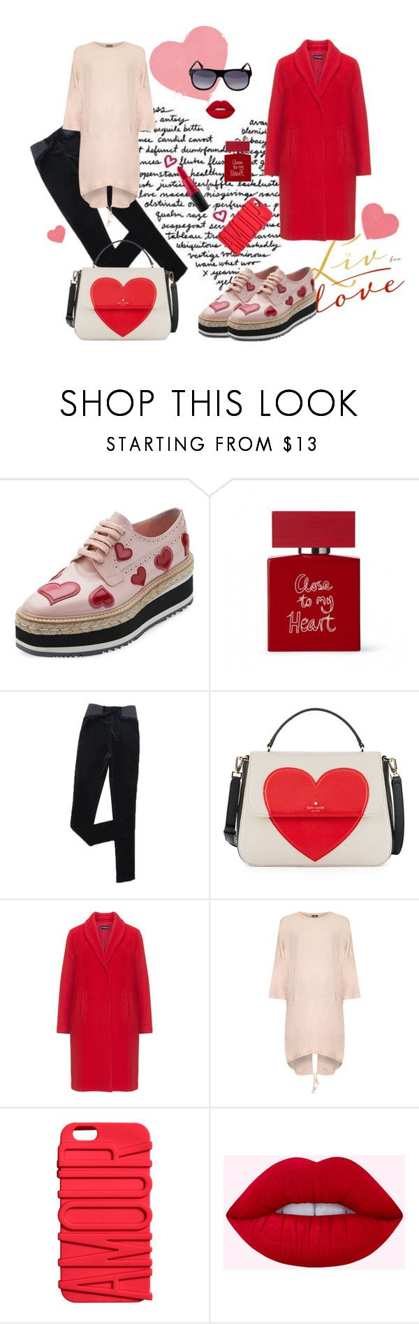 """Amorous mood"" by irishka-matilda on Polyvore featuring мода, Prada, Bella Freud, Kate Spade, Samoon, WearAll, MAC Cosmetics, vintage, sunglasses и Guy_Laroche"