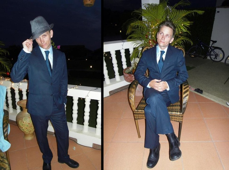A pic of me in my taylormaide suite. Made of silk and Casmere Wool.