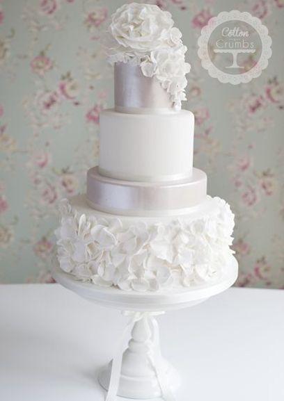 Ruffles wedding Cake http://www.cottonandcrumbs.co.uk/wedding-cakes/
