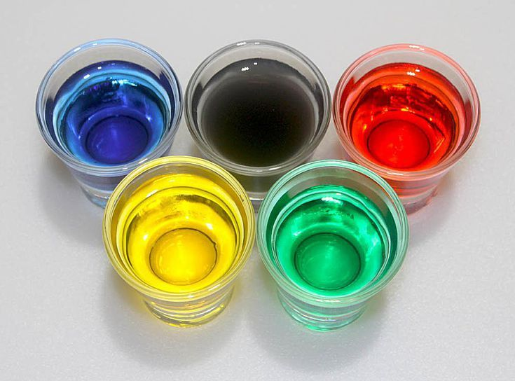 Cool Color Change Chemistry Experiments To Try: Cool Olympic Rings Color Chemistry