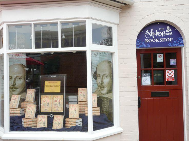 Shakespeare shop in Stratford Upon Avon, England. October 2008