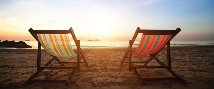 French LES deckchairs. Perfect for a seaside sunset
