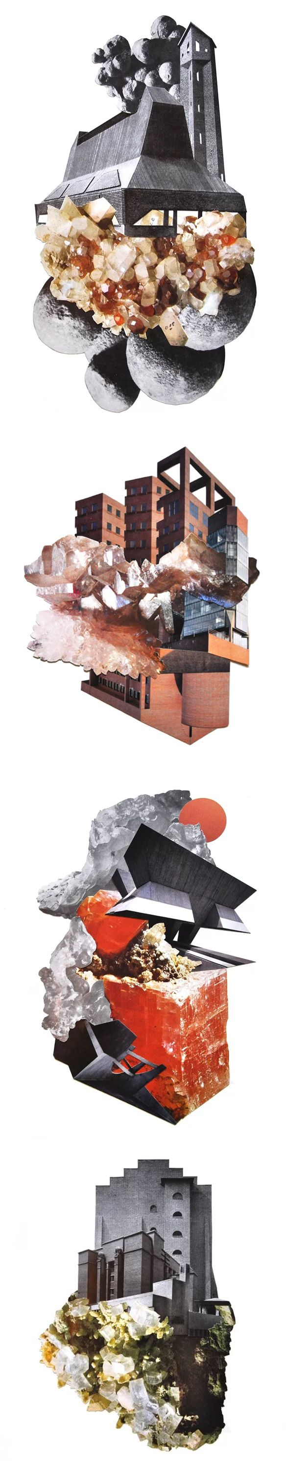 collages by aimee henny brown 拼貼式場景、建築