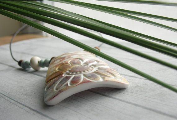 Polymer Clay Ciondolo Beach gioielli con di WiredOrchidJewelry