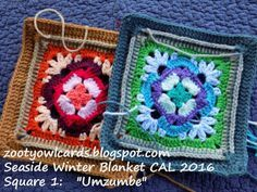 Seaside Winter Blanket CAL: Umzumbe Square 1 | Zooty Owl's Crafty Blog | Bloglovin'