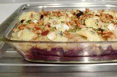 Rode kool ovenschotel met blauwe kaas recept ~ Lekker koolhydraatarm zonder vlees ~ www.con-serveert.nl