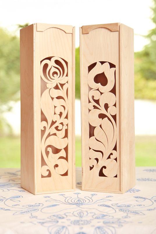 Wine box, Hungarian folk motifs www.placcon.hu.