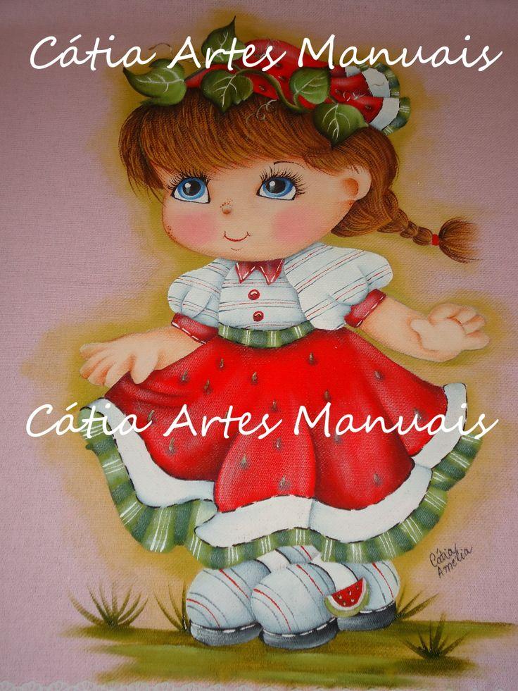 Pintura em tecido colorido