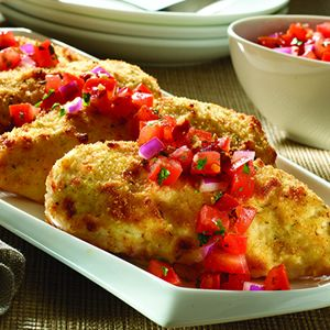 Parmesan-Crusted Bruschetta Chicken  A few great recipes on this site