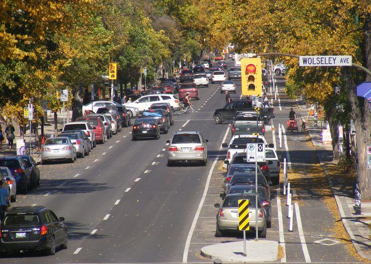Sherbrooke St. Winnipeg. Still auto oriented.