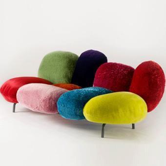 design en couleurs, frères campana, canapé Cipria, 2010