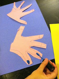 practicing Painting Finger Nails - preschool girls will love this!