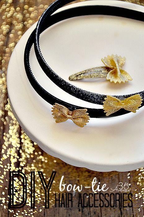Adorable DIY Bow Tie Accessoires cheveux Tutoriel à the36thavenue.com super abordable et facile à faire!  # # Newyears cheveux # diy