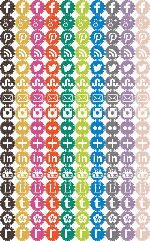 Craftiments:  Free Social Media Icons