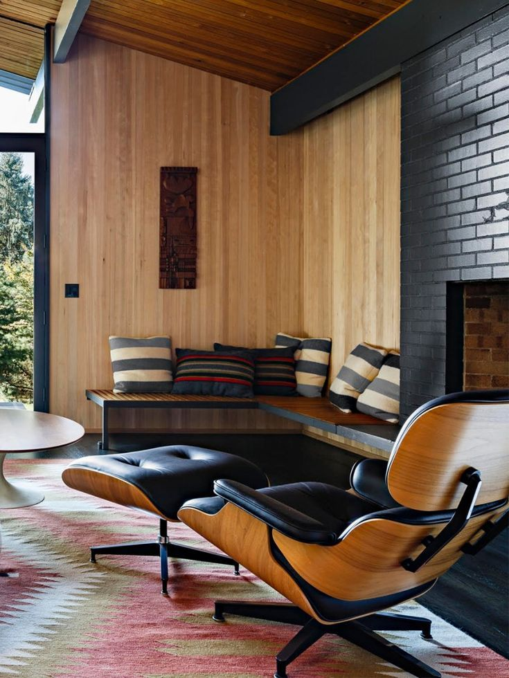 Cool Ways To Update Interior Wall Paneling Wood In 2020 Wood Walls Living Room Wood Paneling Living Room Mid Century Modern Living Room Furniture
