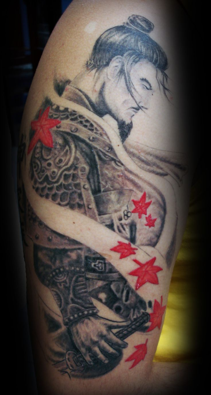 Japanese samurai tattoo design places to visit for Japanese sleeve tattoos meanings