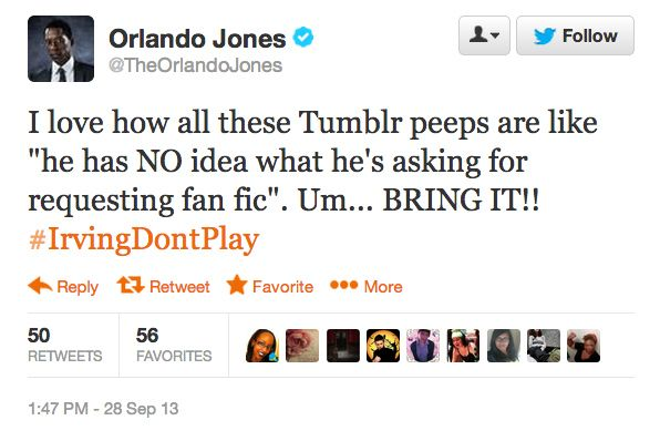 That time he was like hey lemme get at that Sleepy Hollow fanfic. | 23 Times Orlando Jones Won The Internet