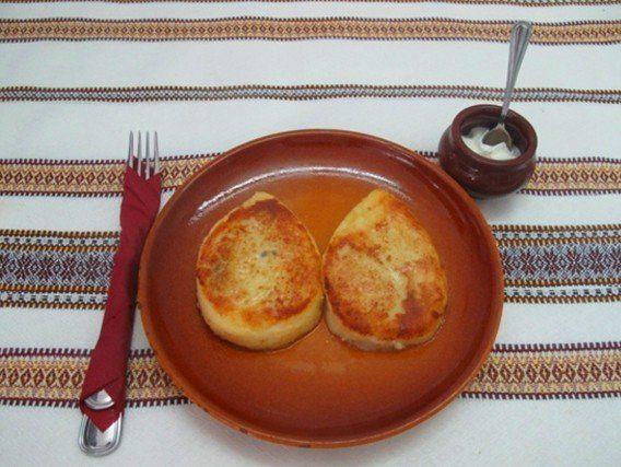 Картофельные зразы с грибами (постные)