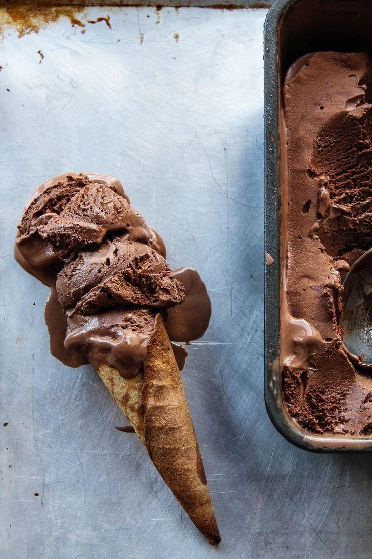 The Darkest Chocolate Ice Cream | The Bitesized Baker