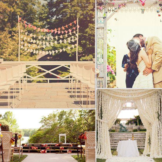 Outdoor Wedding Altar Pinterest: 30 Unique Altar Alternatives For Outdoor Weddings