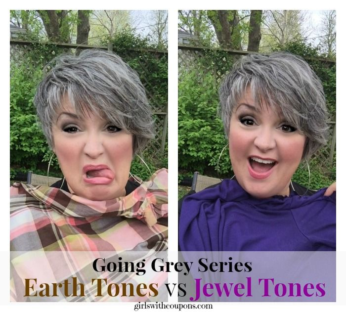 Going Grey Series- What Colors Should I Wear With Silver Hair? http://www.girlswithcoupons.com/going-grey-series-what-colors-should-i-wear-with-silver-hair/