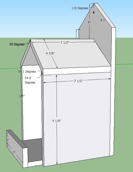 Open Box Robin Bird House Plans