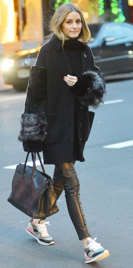 Look of the Day - December 20, 2014 - Olivia Palermo in chic separates from #InStyle