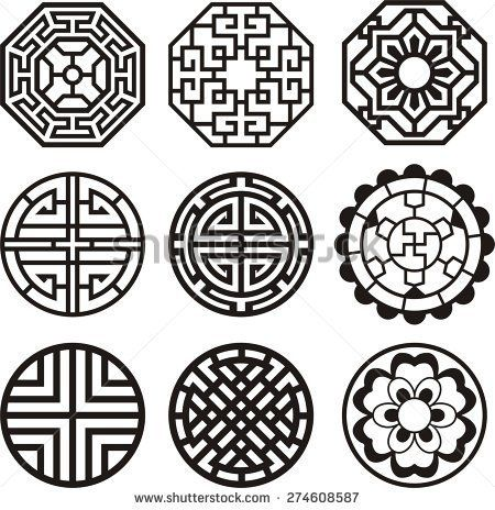 Korean traditional symbol vector image - stock vector