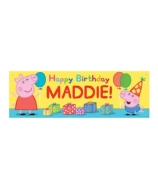 Peppa Pig 'Happy Birthday' Personalized Banner
