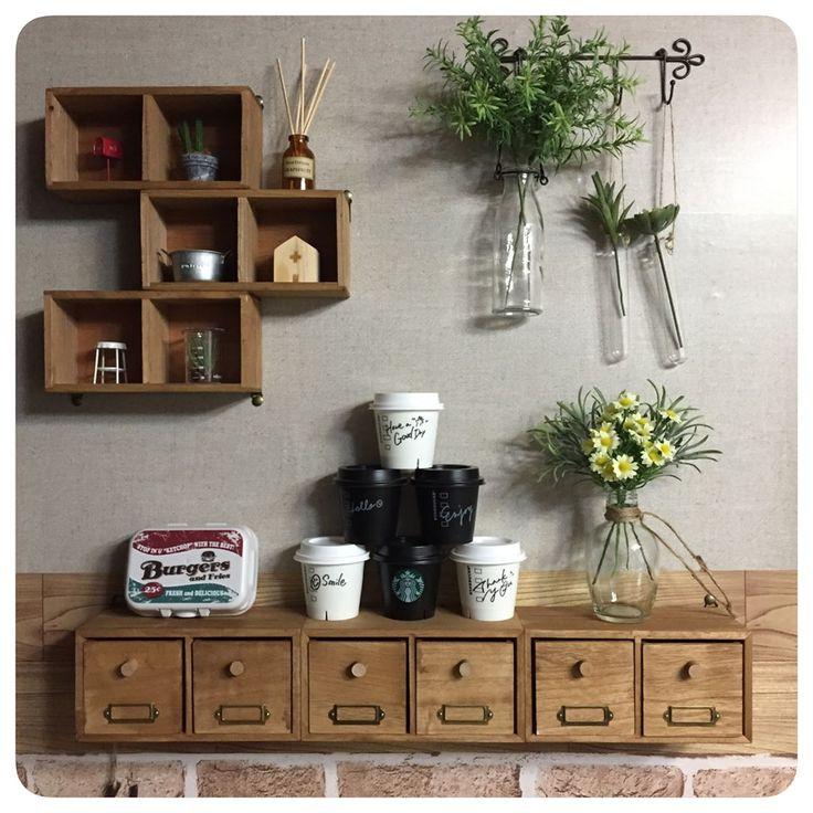 100均木製ボックスで飾り棚を作ろう♪参考アイデア集☆ | Handful