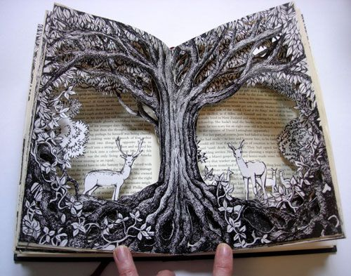 Forest Deer Altered Book