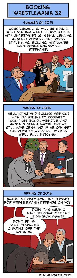 Booking Wrestlemania 32