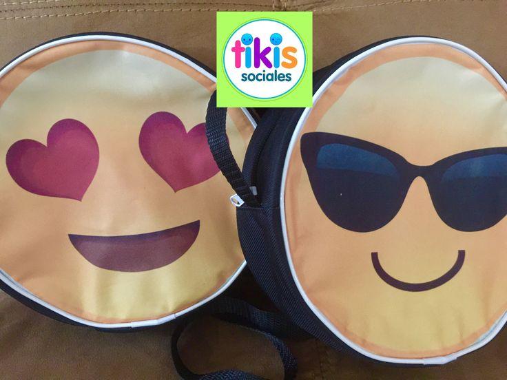 Mochilas Loncheras Emojis happy face fiesta soccer futbol caritas dulceros niños bolsitas de dulces