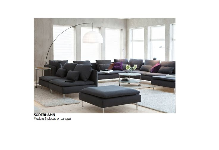 Ikea cana p soderhamn couleur insuda gris canap s for Canape ikea soderhamn