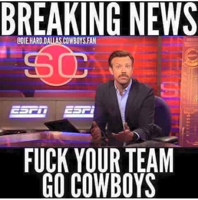 How bout them Cowboys                                                                                                                                                                                 More