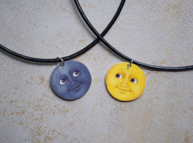 Moon Emoji Friendship Chokers by ShopBenji on Etsy https://www.etsy.com/listing/199125693/moon-emoji-friendship-chokers