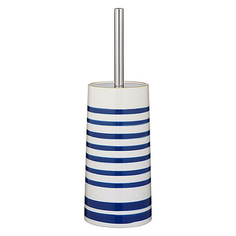Buy John Lewis Salcombe Stripe Toilet Brush and Holder, Nautical Blue Online at johnlewis.com