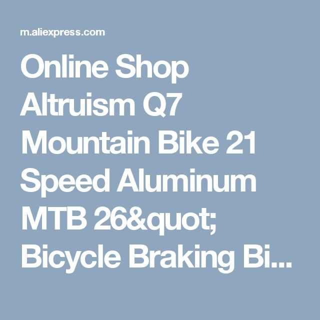 "Online Shop Altruism Q7 Mountain Bike 21 Speed Aluminum MTB  26"" Bicycle Braking Bikes for Mens Road Racing Black Bicycle 