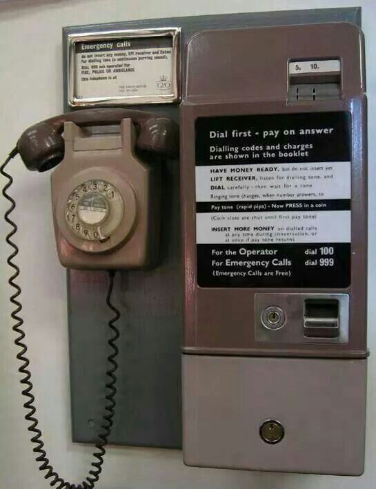 70s phone.... I can remember using one of these, before the days of mobile phones! Your coins never seemed to last long and the phone boxes always smelt of stale cigarettes