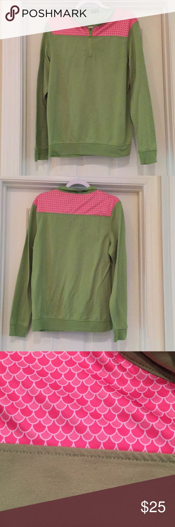 Anna lane shep shirt Used little pilling. Half zip 100 percent polyester green is more lime green than in pics anna lane Tops