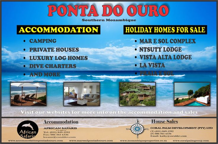 Accommodation and Houses for Sale in Ponta Do Ouro - Mozambique