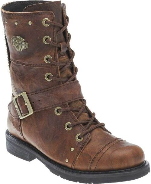 "Free shipping - Harley-Davidson Women's Lifestyle Monetta 7.75"" Brown Motorcycle Boots D83860 - Womens/Footwear/Boots - Essentials/Footwear/Womens Footwear"