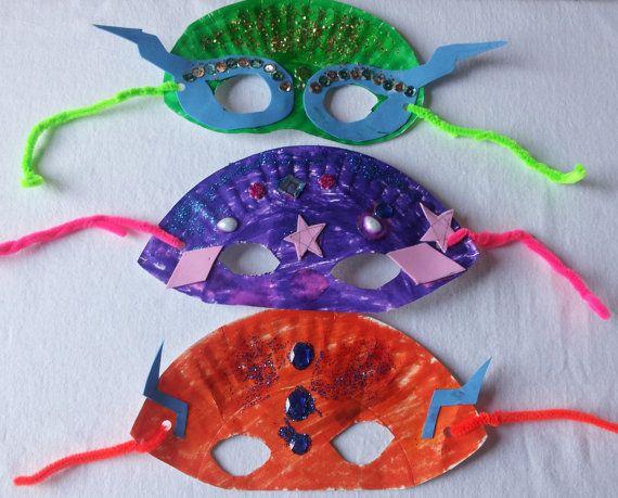 Rainy day craft kids, paper plate craft masks, birthday party craft
