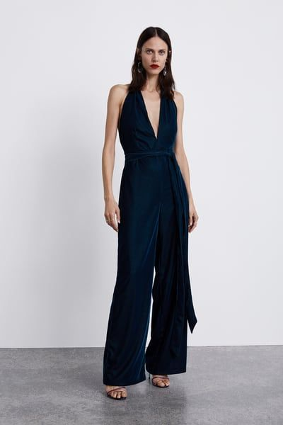 a67a44797c85 Image 1 of VELVET LOOK JUMPSUIT from Zara