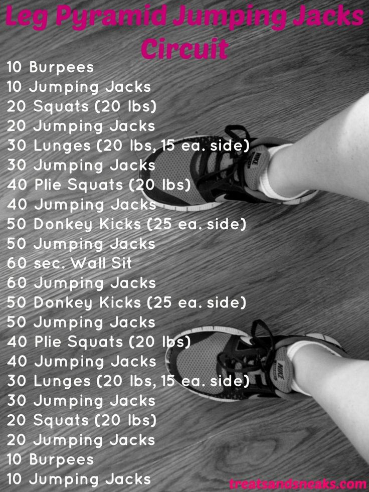 Leg Pyramid Jumping Jacks Circuit! #cardio #strength #legs #healthylivingblog www.treatsandsneaks.com http://www.weightlossjumpstar.com/exercise-to-lose-weight/