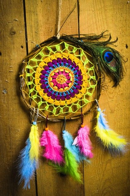 My crochet dreamcatcher