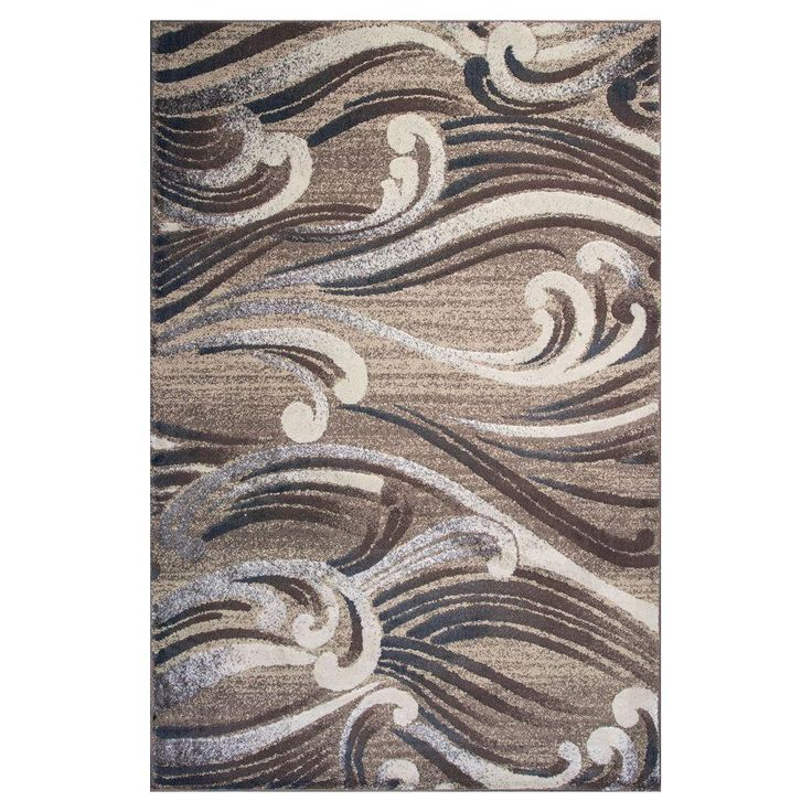 Donny Osmond Home Natural Scrolls 3 ft. 3 in. x 4 ft. 11 in. Area Rug-DOT800733X411 - The Home Depot